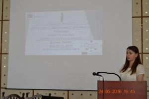 Огляд результатів навчального візиту до Краківської гірничо-металургійної академії. Доповідь: Софія Пида - інженер-програміст кафедри інформаційних технологій.